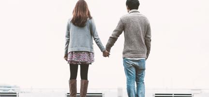 B型男性と女性のカップル