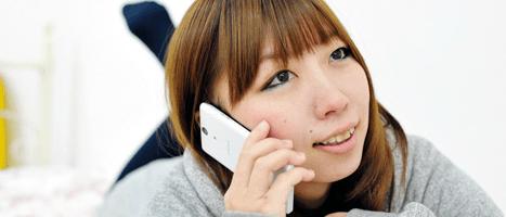 恋人と電話