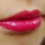 口紅をつけた唇